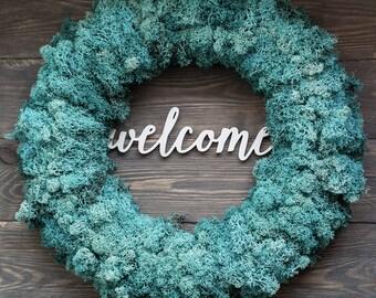 Spring door wreath - front door wreath - outdoor spring wreath - spring wreath - outdoor wreath - wreaths for front door - turquoise wreath