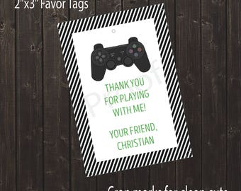 Personalized Video Game Favor Tag | Video Game Party | Game Truck Party