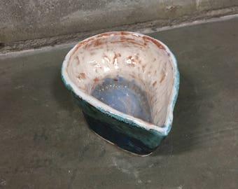 Ceramic Bowl - Blue Water Drop