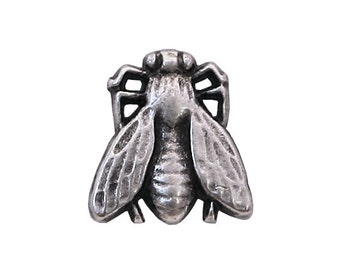 12 Tiny Buzz Fly 3/8 inch ( 10 mm ) Metal Buttons