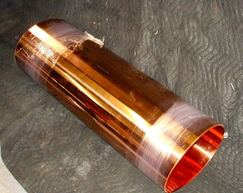 """24"""" x 120"""" copper sheet cost solid pure 16 ounce 24 gauge 99.9% pure"""