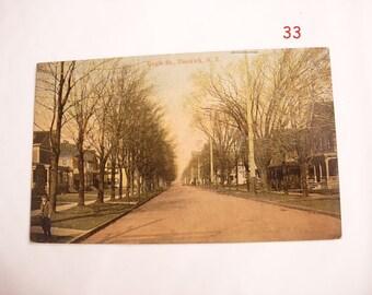 Street Scenes Postcard View of Eagle Street Dunkirk NY