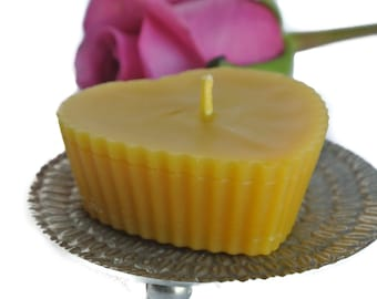 Beeswax Candle, Beeswax Candles, Natural Candles, Pure Beeswax Candles, Natural Beeswax Candles, Heart Candle, 100 Pure Beeswax Candles,