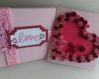 Hearts Quilling Cards