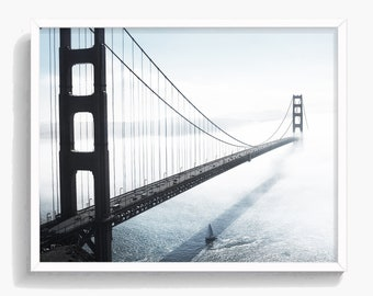 Golden Gate Bridge Print,  Landscape Print, Bridge Photo, San Francisco Photo, Digital Download, Large Printable Poster,  #179