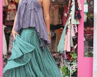 Skirt two layer full length ....Linen/cotton  Colour No.21/No.14 M,L,XL
