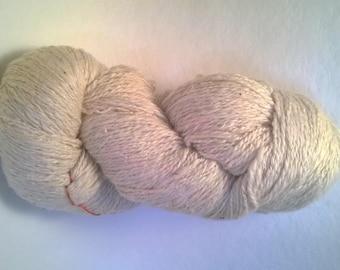skein of hand-spun cotton/bamboo