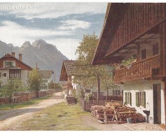 Garmisch, Germany Farm Houses Photo Postcard, c. 1910