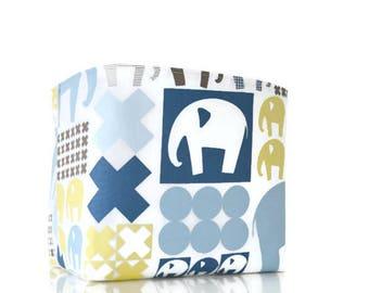 Elephant storage basket baby toy storage blue nursery storage diaper caddy toy storage baby gifts baby shower gifts baby boy