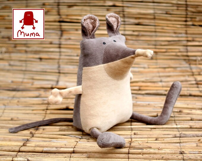 Funny toy, plush toy, stuffed animal, Muma Shrew Plushie, Short Eared Elephant Shrew. Cute Little Pocket Mammal Stuffie Toy