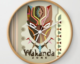 Wakanda Decor Clock, Black Panther Mask, Black Panther Decor,  Wakanda Gifts, African Design, African Gifts, African Inspired