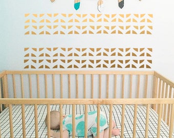 Triangles Wall Decals-Nursery vinyl decal-Triangles vinyl decals-Geometric wall decal-Baby room decor-Boho element sticker-Boho decor-Decals