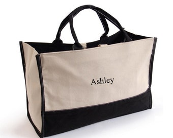 Personalized Canvas Tote Bag, Bridesmaid Gift, Bridesmaid Tote Bag, Custom Tote Bag, Wedding Gift, Wedding Party Gift, Gifts for Her, GC505