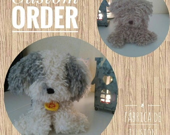 Spanish water dog, amigurumi dog, stuffed dog, amigurumi water dog, stuffed toy,  water dog