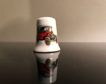 Collectible ceramic vintage car  ford thimble