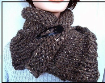 knitting pattern, scarf, cowl - scarf knitting pattern,  num. 512, accessories, clothing, women, teens, chunky cowl, scarf knitting pattern