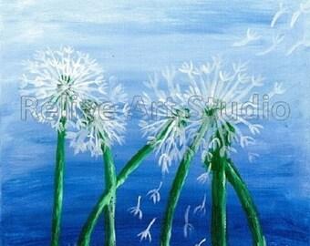 Dandelion Flower,oil Painting Print,Wall Art,Home Decor,Gift