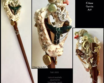Hair Stick with Shells