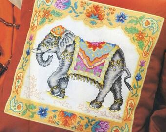 Indian Elephant Cross Stitch PDF Pattern