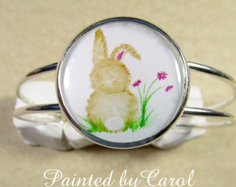 Bunny Bracelet, Rabbit Jewelry, Bunny Cuff, Rabbit Bracelet, Easter Bunny Bracelet, Easter Bunny Jewelry, Easter Gifts, Bunny Gifts
