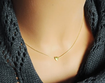 Heart necklace gold. 14K Gold Field chain. Gold heart. Tiny heart necklace. Tiny gold necklace. Girlfriend gift. Gift for mom. Mothers day