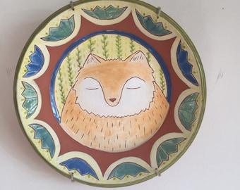 Dreaming Fox Plate