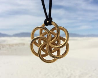 Large Woven Seed of Life Pendant
