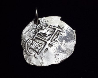 Handmade Double Sided Sterling Silver Piece of Eight (10sil)