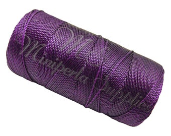 Spool of thread macramé waxed Linhasita - purple