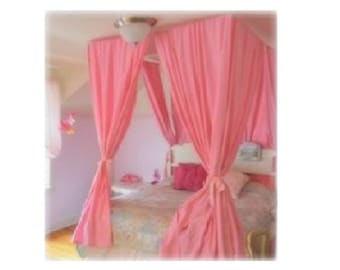 Twin Size Canopy Hardware Kit   Ceiling Suspended Hanging Four Poster  Curtain Frame Princess Crown Drapery