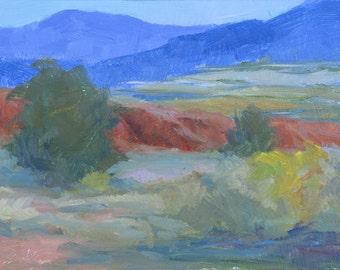 Ghost Ranch View, Oil Plein Air 5x7, New Mexico