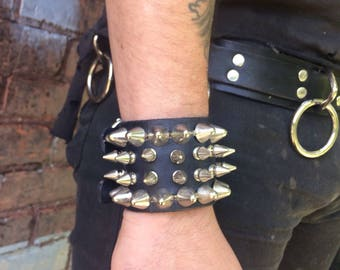 Studded and spiked cuff