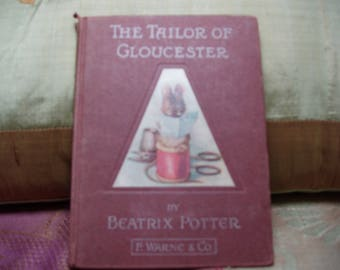 First Edition Beatrix Potter Tailor of Gloucester  1903