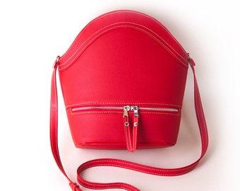 Red purse Red crossbody bag Shoulder bag Gift for her Flap crossbody bag Mini bag Women's purse Crossbody purse Small purse Clutch purse