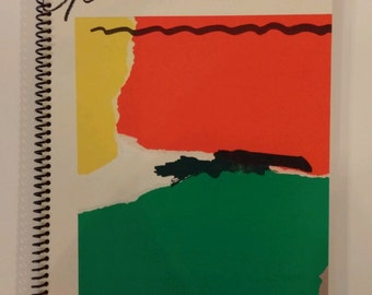"""Genesis Spiral Notebook Hand Made from Upcycled Vinyl Record Album Cover """"Abacab"""""""