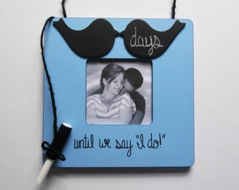 Bride to be gift from maid of honor, wedding countdown frame for engagement photo frames