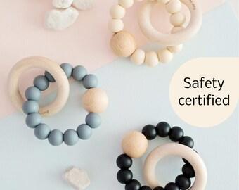 Neutral Teething Toy | Scandinavian Teething Toy | Baby Teething Toy | Silicone Teething Toy | Certified Teether | Silicone Teething Ring