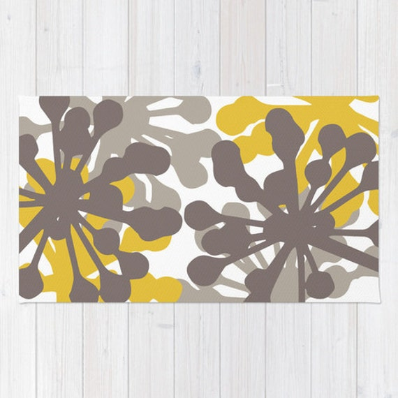 Floral rug brown and mustard yellow area rug modern zoom mightylinksfo