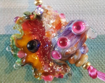 Carnaval Shell Lampwork Fantasy conque pendentif Perle en verre de récolte de Helen