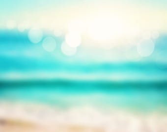 Photography Backdrop, Children Newborns Photography background, seaside photo printed Drops W-206