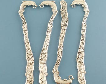 Dolphin 83mm silver metal bookmark