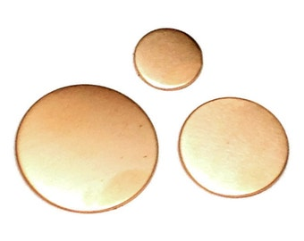 Copper Disc 32mm - Copper Disc Blank - copper stamping blank