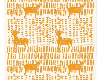 Goat Organic Kitchen Towel - marigold yellow or blue agave