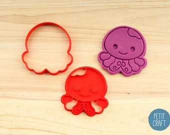 Cute Octopus Cookie Cutter, Cake and Fondant Decorate
