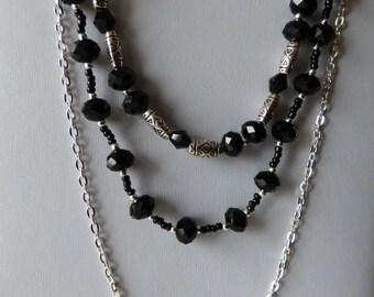 Necklace Black Starlet - Made in FRANCE