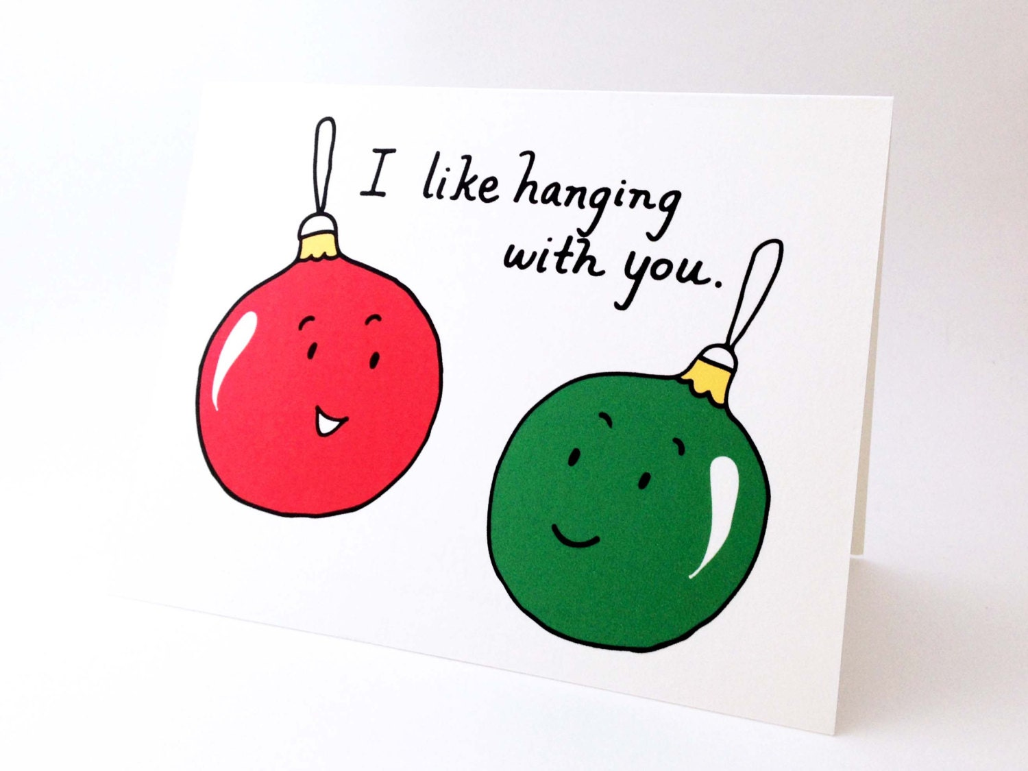 Christmas Quotes About Friendship Cute Best Friend Christmas Card  Punny Holiday Love Card
