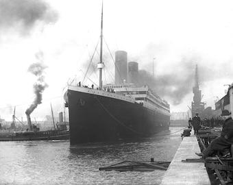 RMS Titanic at the docks of Southampton, 1911