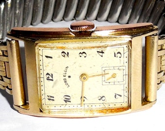 Lord Elgin 559, 14k Yellow Gold filled, circa 1950, Working, Vintage, Wrist Watch,