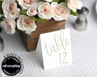 Wedding table cards Etsy