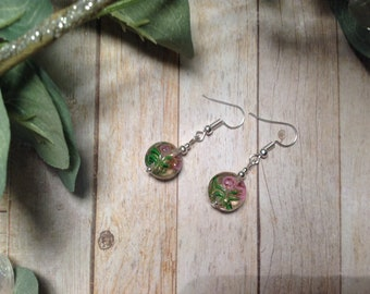 Simple Handpainted Bead Earrings